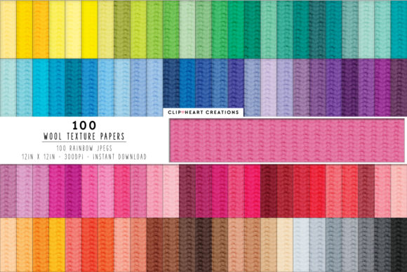 100 Wool Texture Papers Graphic Backgrounds By clipheartcreations