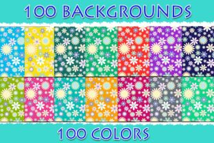 100 Flowers Digital Paper Graphic Backgrounds By SweetDesign
