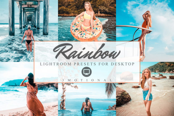 Print on Demand: 11 Rainbow Lightroom Presets Graphic Actions & Presets By 3Motional
