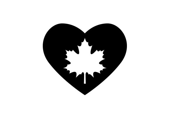 Download Free Maple Leaf Heart Svg Cut File By Creative Fabrica Crafts for Cricut Explore, Silhouette and other cutting machines.