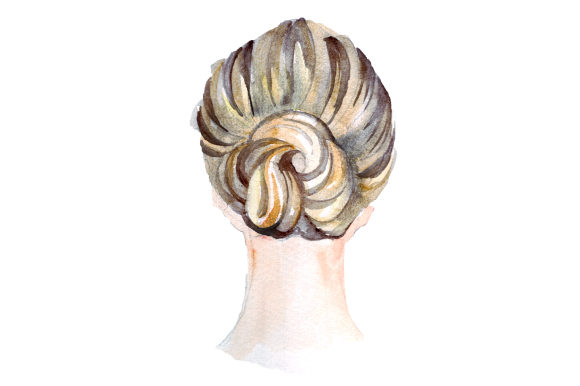 Messy Bun Beauty & Fashion Craft Cut File By Creative Fabrica Crafts