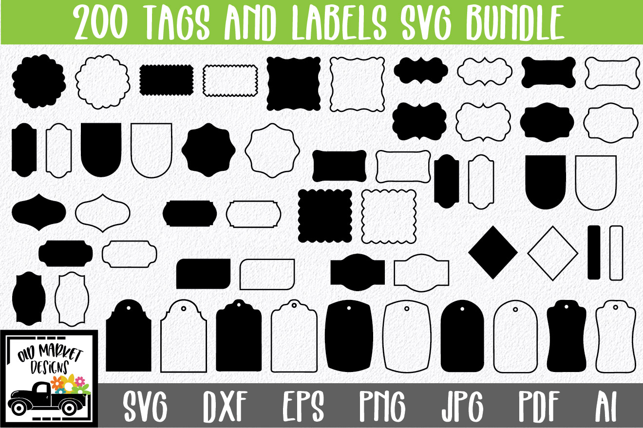 200 Tags and Labels Bundle SVG File