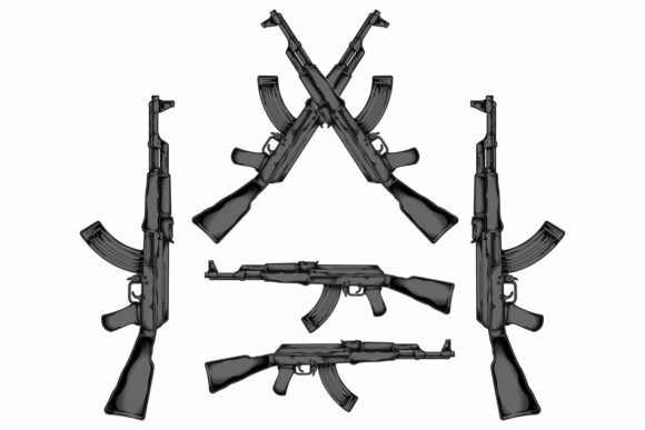 AK 47 Graphic Illustrations By Epic.Graphic