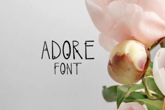 Print on Demand: Adore Sans Serif Font By carina2