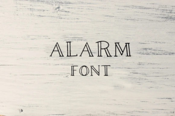 Print on Demand: Alarm Display Font By carina2