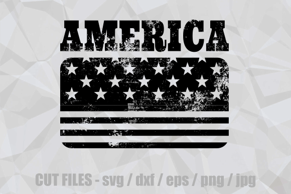 Download Free American Flag Rubber Stamp Cut File Graphic By Prawny Creative for Cricut Explore, Silhouette and other cutting machines.