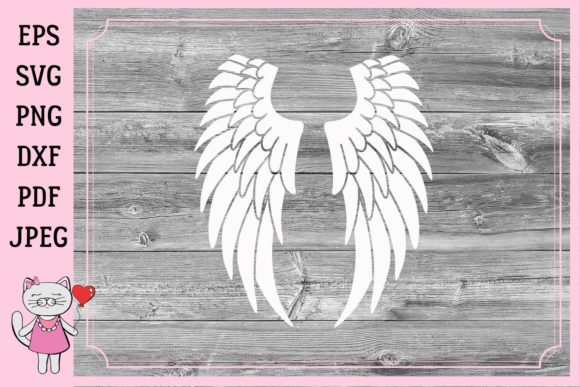 Download Free Angel Wings In Loving Memory Graphic By Magic World Of Design for Cricut Explore, Silhouette and other cutting machines.
