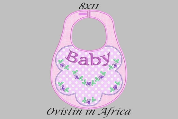 Baby Floral Adorable Baby Bib Large Nursery Embroidery Design By Ovistin in Africa