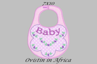 Baby Floral Adorable Baby Bib Small Nursery Embroidery Design By Ovistin in Africa