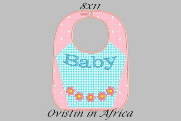Download Free Baby Flower Adorable Baby Bib Large Creative Fabrica for Cricut Explore, Silhouette and other cutting machines.