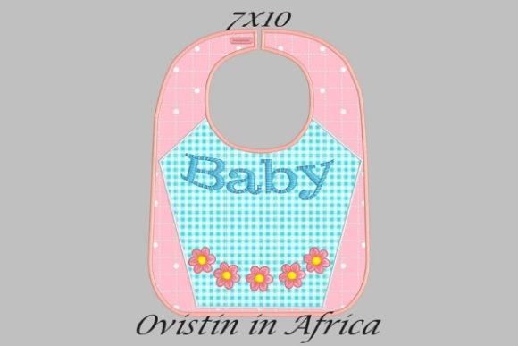 Baby Flower Adorable Baby Bib Small Nursery Embroidery Design By Ovistin in Africa