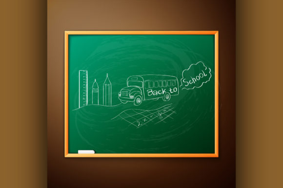 Download Free Back To School Written On Blackboard Graphic By Netkov1 for Cricut Explore, Silhouette and other cutting machines.