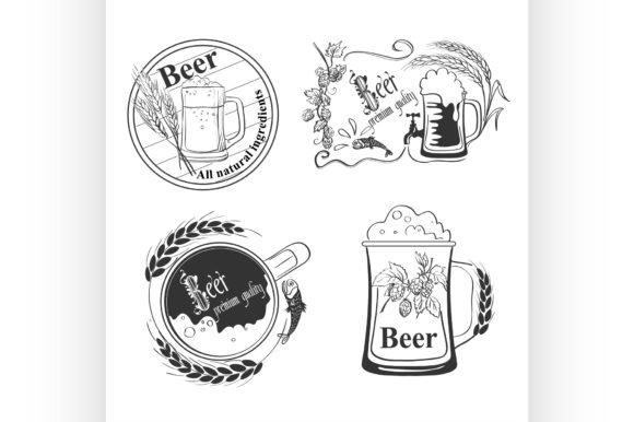 Beer Emblems Graphic Illustrations By netkov1