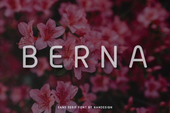 Print on Demand: Berna Sans Serif Font By Nan Design
