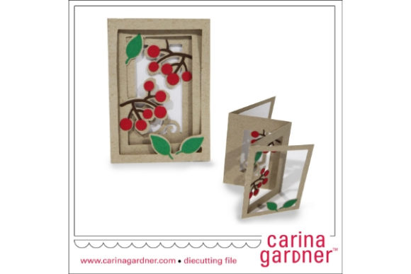 Download Free Berry Accordion Card Graphic By Carina2 Creative Fabrica for Cricut Explore, Silhouette and other cutting machines.