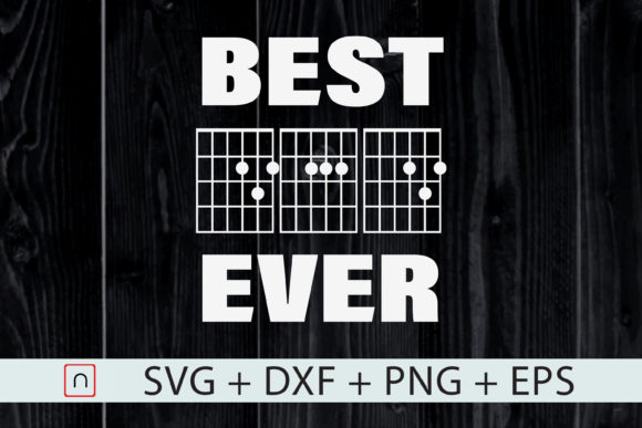 Download Free Best Dad Ever Music Guitar Musician Dad Graphic By Novalia for Cricut Explore, Silhouette and other cutting machines.