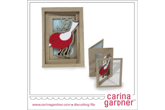 Bird Accordion Card Graphic 3D SVG By carina2