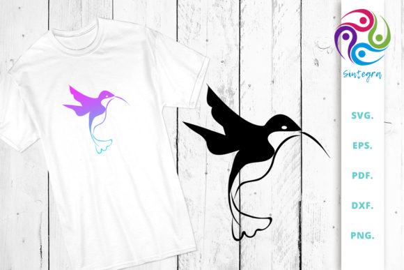 Download Free Bird Cut File Hummingbird Graphic By Sintegra Creative Fabrica for Cricut Explore, Silhouette and other cutting machines.