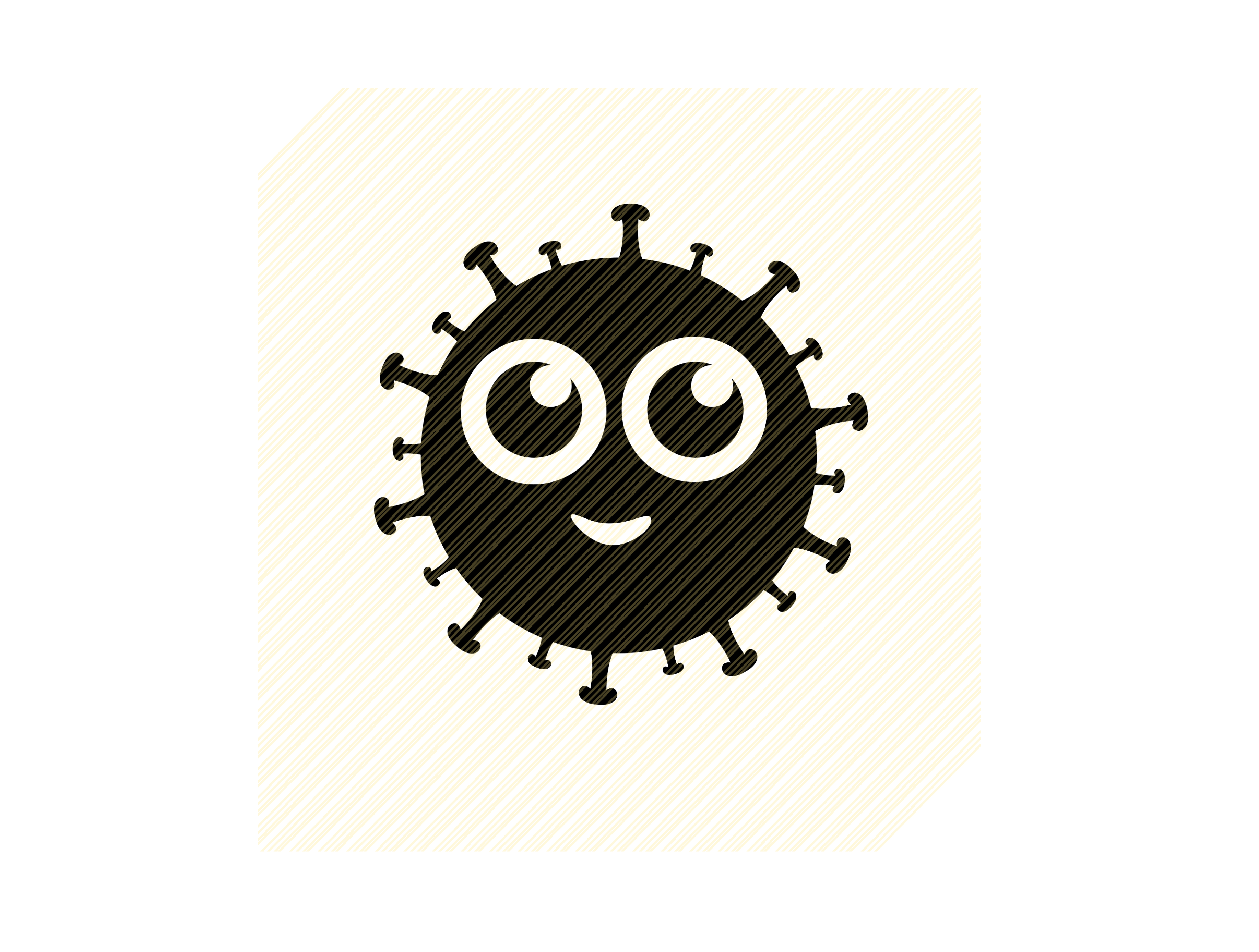 Download Free Black Virus Graphic Graphic By Svgplacedesign Creative Fabrica for Cricut Explore, Silhouette and other cutting machines.