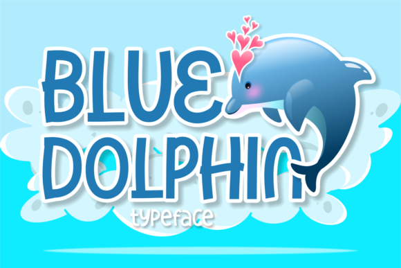 Print on Demand: Blue Dolphin Display Font By brithostype