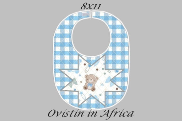 Blue Star Adorable Baby Bib Large Nursery Embroidery Design By Ovistin in Africa