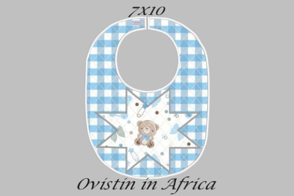 Blue Star Adorable Baby Bib Small Nursery Embroidery Design By Ovistin in Africa