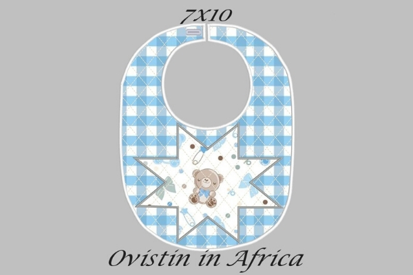 Download Free Blue Star Adorable Baby Bib Small Creative Fabrica for Cricut Explore, Silhouette and other cutting machines.