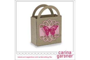 Butterfly Doily Favor Bag Graphic 3D SVG By carina2