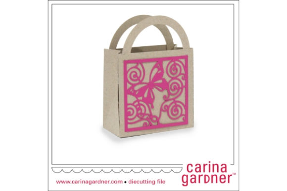 Download Free Butterfly Filigree Favor Bag Graphic By Carina2 Creative Fabrica for Cricut Explore, Silhouette and other cutting machines.