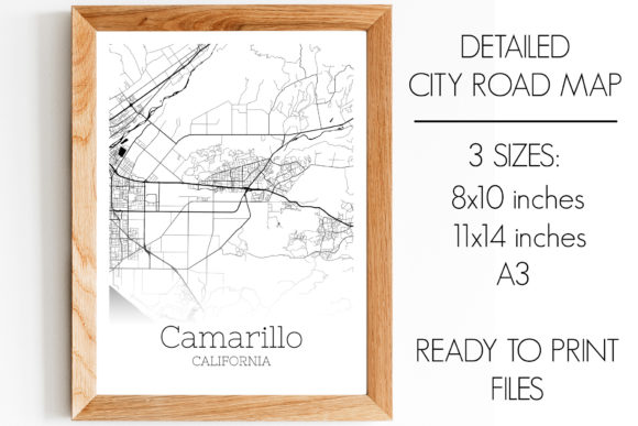 Print on Demand: Camarillo California City Map Graphic Photos By SVGExpress