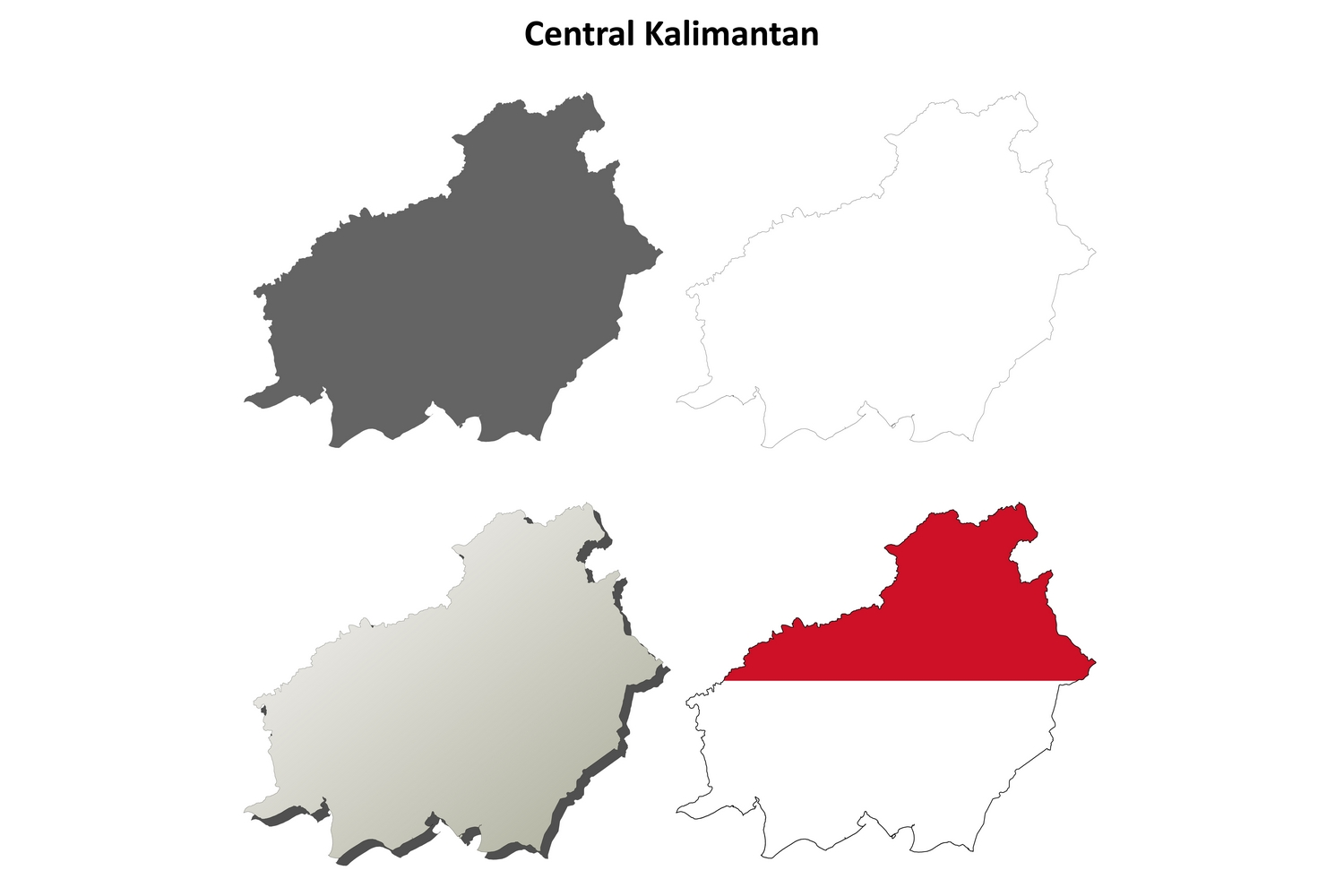 Download Free Central Kalimantan Outline Map Set Graphic By Davidzydd for Cricut Explore, Silhouette and other cutting machines.