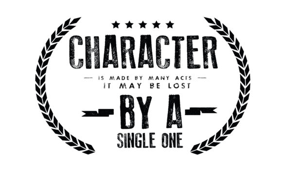 Print on Demand: Character is Made by Many Acts Graphic Illustrations By baraeiji