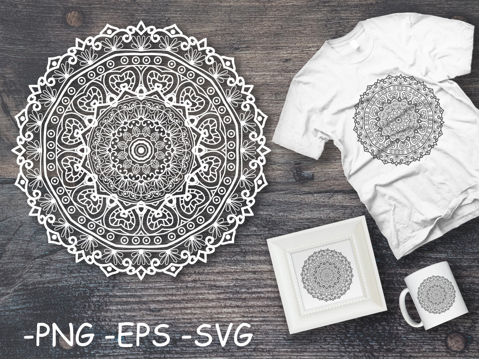Download Free Circular Pattern Mandala Art 14 Graphic By Azrielmch Creative for Cricut Explore, Silhouette and other cutting machines.