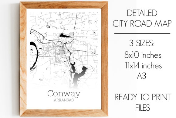 Download Free Conway Arkansas City Map Graphic By Svgexpress Creative Fabrica for Cricut Explore, Silhouette and other cutting machines.