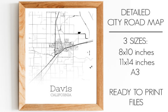 Print on Demand: Davis California City Map Graphic Photos By SVGExpress