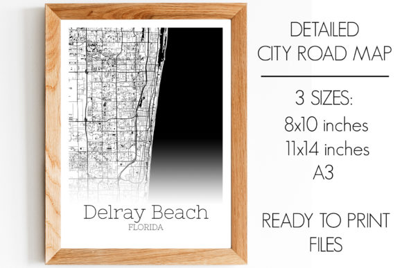Print on Demand: Delray Beach Florida City Map Graphic Photos By SVGExpress