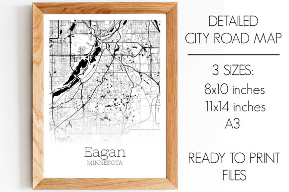 Print on Demand: Eagan Minnesota City Map Graphic Photos By SVGExpress