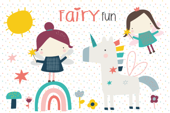 Print on Demand: Fairy Fun Clipart Gráfico Ilustraciones Por poppymoondesign