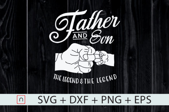 Print on Demand: Father and Son the Legend and the Legend Graphic Print Templates By Novalia
