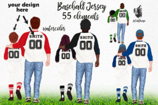 Print on Demand: Father's Day Clipart Baseball Jersey Graphic Illustrations By LeCoqDesign