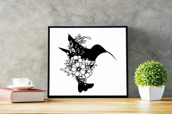 Download Free Floral Bird Silhouette Cut File Graphic By Sintegra Creative for Cricut Explore, Silhouette and other cutting machines.