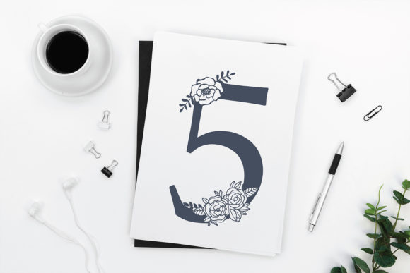 Download Free Floral Numbers 0 To 9 Numbers Graphic By Diycuttingfiles for Cricut Explore, Silhouette and other cutting machines.