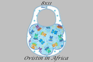 Floral Style Adorable Baby Bib Large Nursery Embroidery Design By Ovistin in Africa