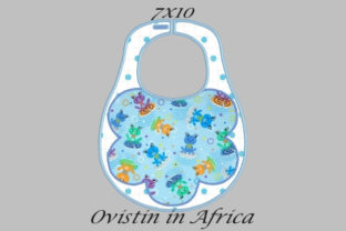 Floral Style Adorable Baby Bib Small Nursery Embroidery Design By Ovistin in Africa
