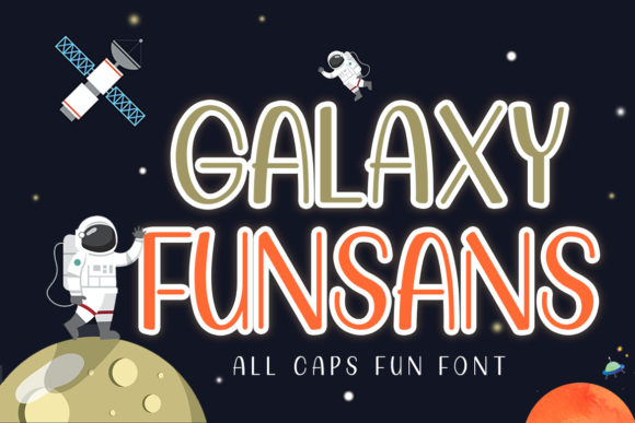 Print on Demand: Galaxy Funsans Display Font By Typerex