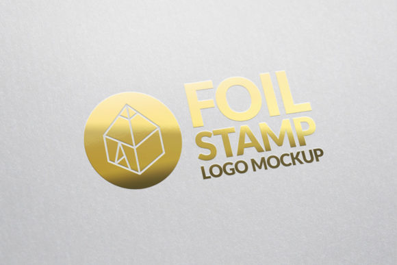 Gold Foil Stamp Logo Mock-Up Graphic Product Mockups By graphicshelter