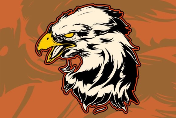 Graphic Head of a Bald Eagle Graphic Illustrations By Epic.Graphic