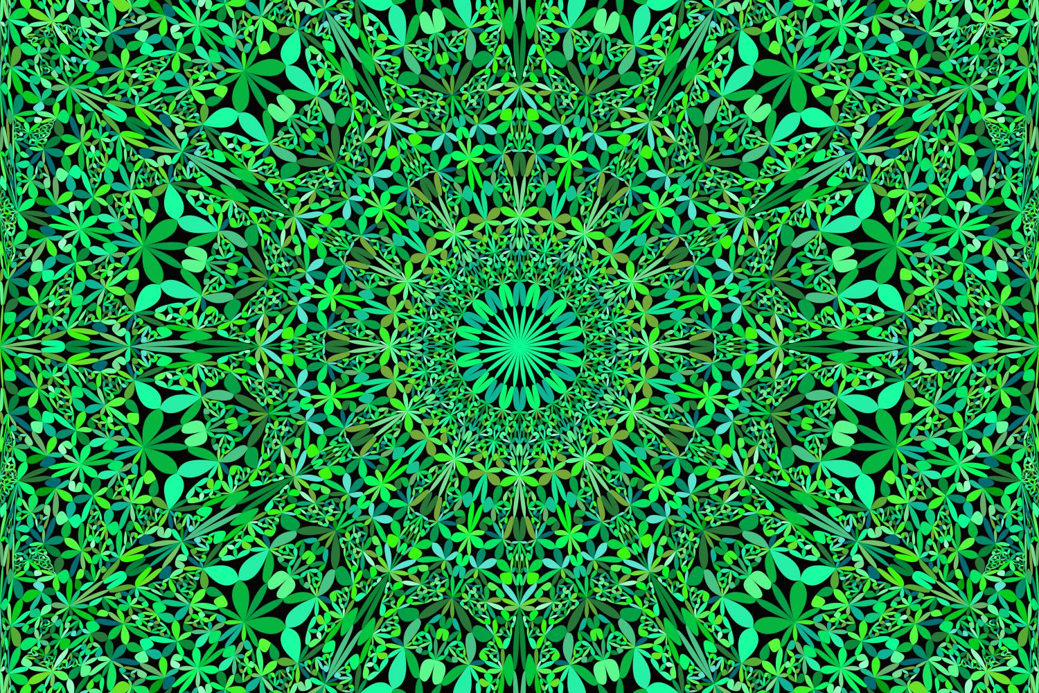 Download Free Green Seamless Mandala Pattern Graphic By Davidzydd Creative for Cricut Explore, Silhouette and other cutting machines.