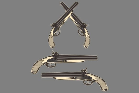 Gun Classic Vintage Graphic Illustrations By Epic.Graphic