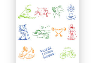 Hand Drawn Doodle Sketch Icons Set Graphic Illustrations By netkov1